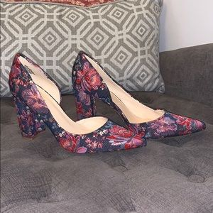 Nine West Floral Block Heel